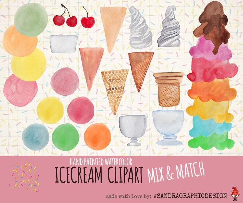 995ea94b1de Ice cream clipart  ICE CREAM mix   match with