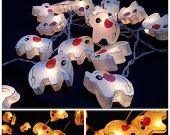 White Elephant string light hanging lantern paper indoor night light decor party