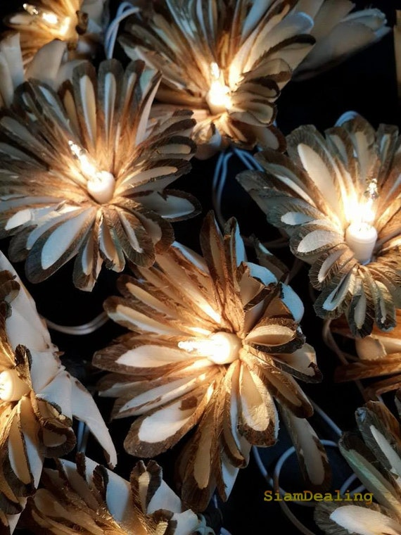 wholesale dealer c80c7 80ad0 Large 20 sunflower String Lights Fairy Lights - Wedding from real Sesbania