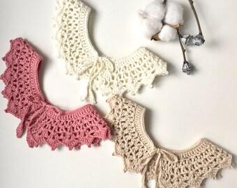 Crochet Collar Baby Collar Bubi Collar Baby Crochet Collar Baby Bib