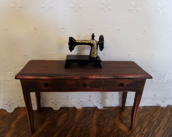 Miniature Singer Sewing Machine Dollhouse
