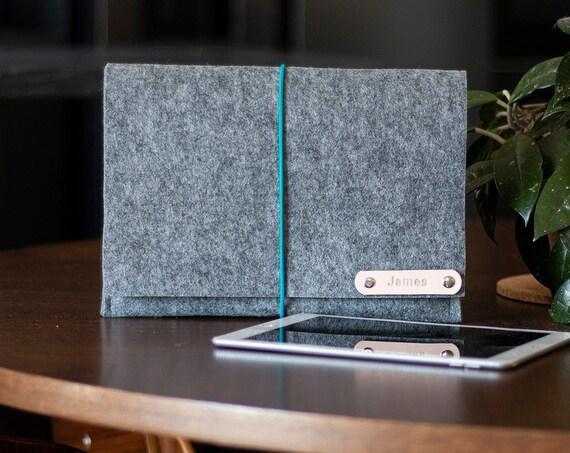 Felt ipad pro case, simple macbook pro case, kindle case, tablet case, ipad sleeve, custom ipad case, Easy cloasure ipad case, minimalist