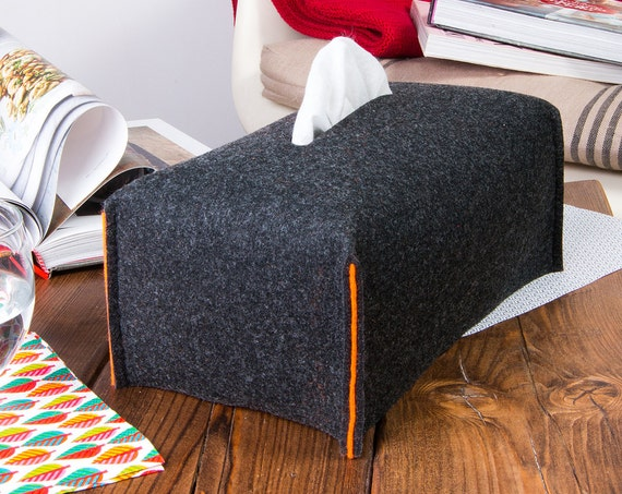 Felt tissue box cover, Kitchen decor, easter decorations, kleenex flat box, home decor, home sweet home, desk accessories, mom birthday gift