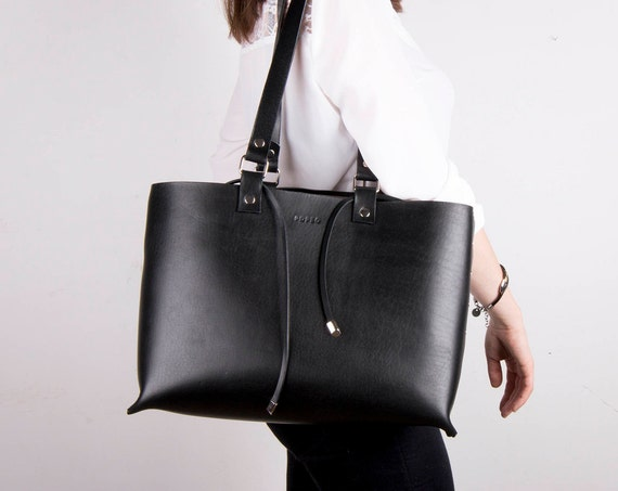Leather bag for women, Leather Tote,  leather tote bag, black tote bag, leather, handmade, tote, leather handbag, valentine gift for her