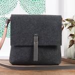 Grey crossbody felt purse, Felt bag, handbags, purses and bags, crossbody bags, leather handbag, messenger bag for women, shoulder bag