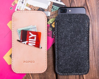Samsung galaxy s8 case leather, iPhone 8 Plus Case, Iphone 8 case, iphone 7 case, iphone 6 case, leather and felt phone case, iphone 6s case
