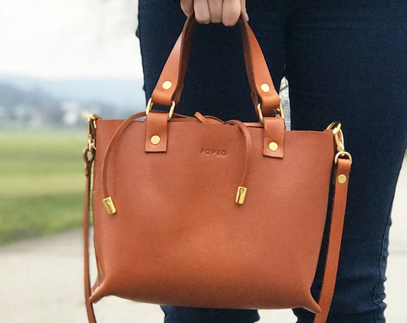 Tote bag, Leather tote, Leather bags, handbags, handmade leather purse, brown leather tote, leather shoulder bag, Crossbody strap bag,