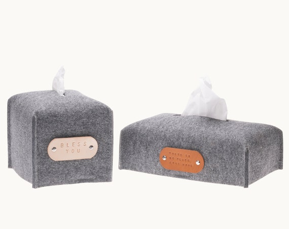 Rectangle tissue box cover, Kleenex box holder, housewarming hostess gift, felt decor