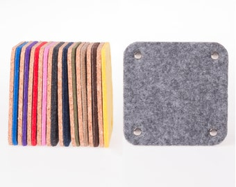 Square coasters, felt coasters, drink coasters, Coasters for drinks, housewarming gift, home decor, felt coaster, desk accessories, gift