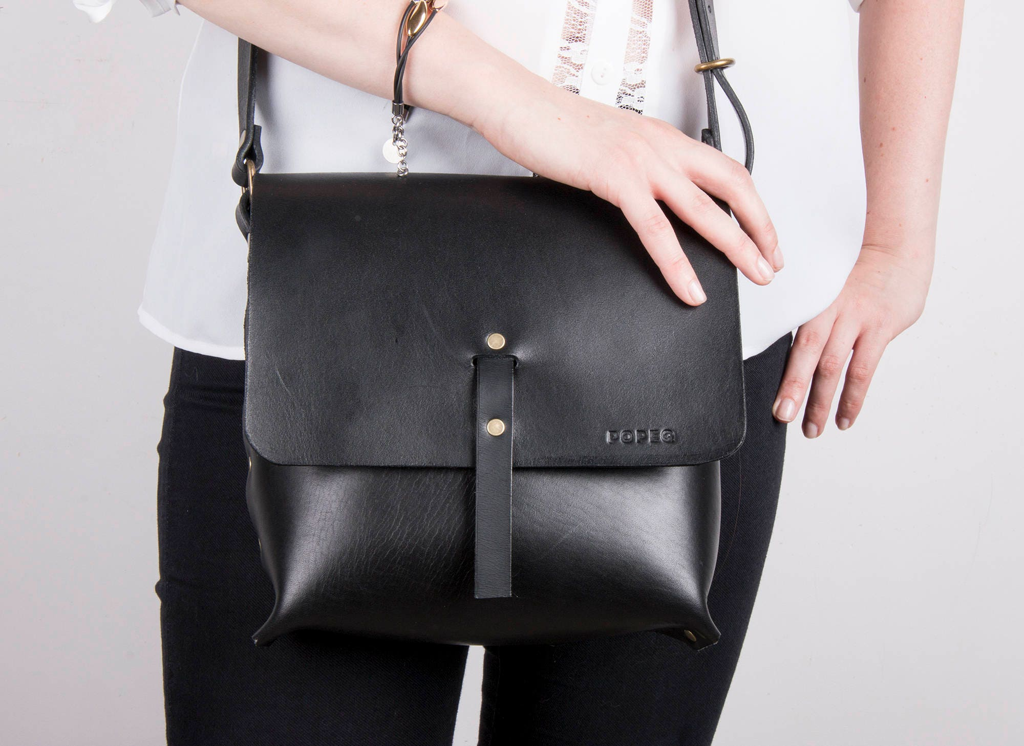 Black Leather Bag Crossbody Bags Small Leather Purse Leather