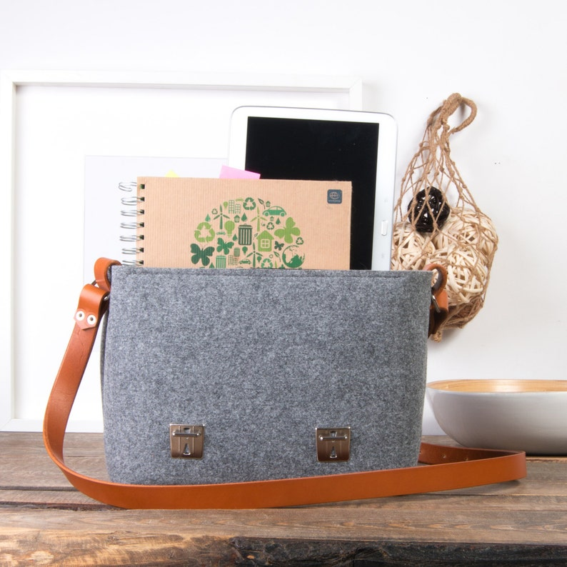 Felt crossbody bag Macbook air case macbook pro 15 case Laptop bag for women felt bag leather messenger bag men messenger bag women