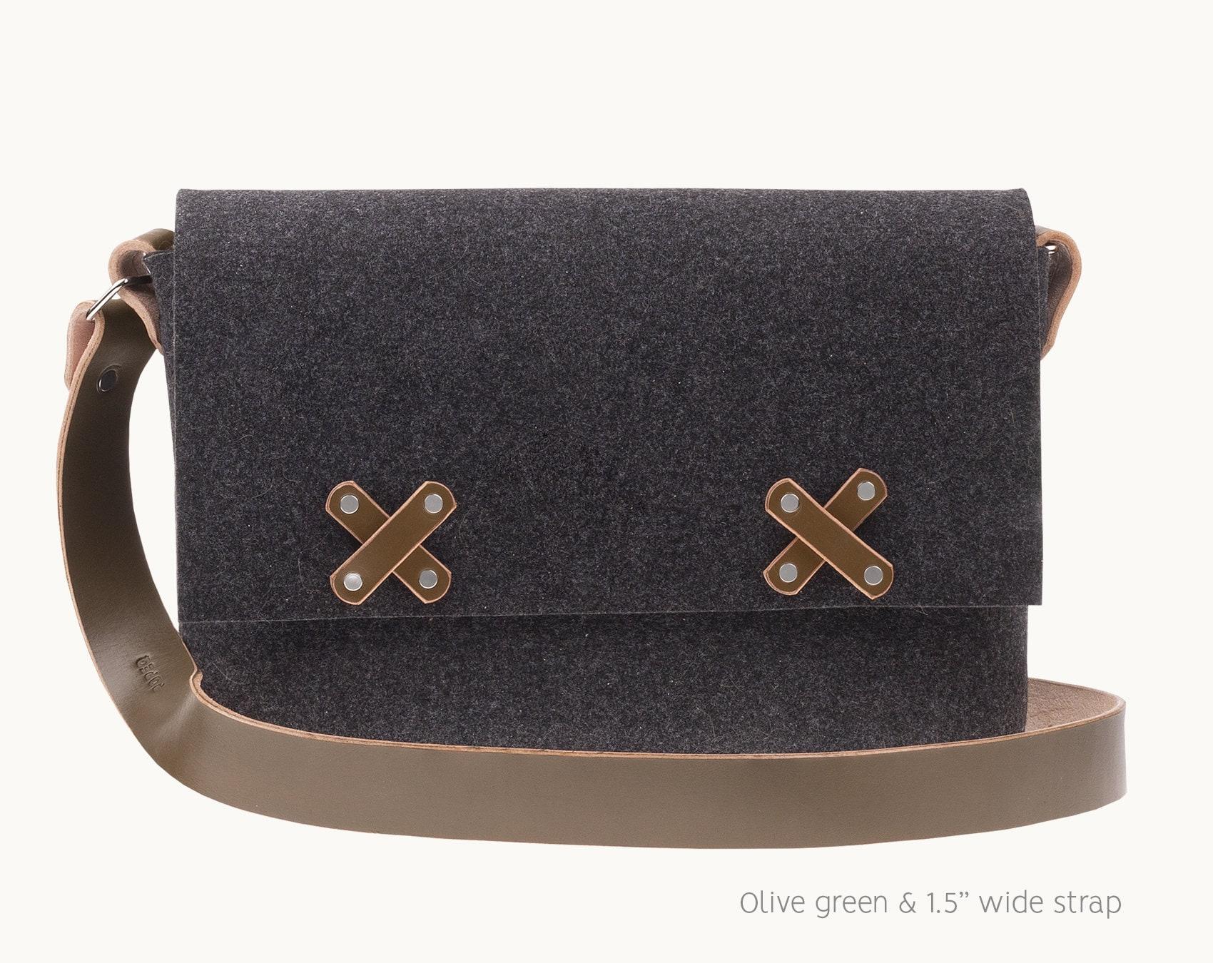 0da82551d2e Leather Laptop bag 13 inch felt messenger bag felt bag