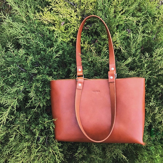 Leather bag, leather handbag, brown leather bag, leather tote, shoulder bag, leather purse, leather tote bag, leather shoulder bag, gift bag