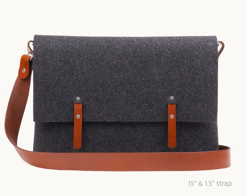 Macbook Pro 15 case Laptop bag leather crossbody strap 15  868925e93