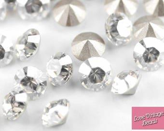 SWAROVSKI Crystal Moonlight Round Stones 1028 CHOOSE SIZES Repairs Nail Art