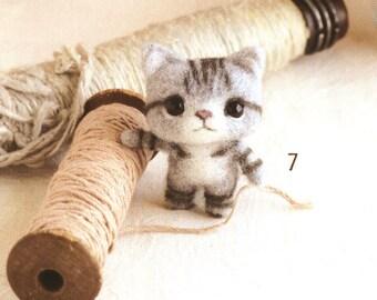 53 Japanese Wool Needle Felt Cute Animals - Kawaii Felting Patterns - Needle felting ebook - Japanese felt ebook - Instant download