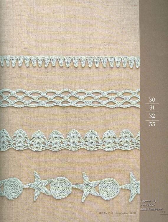 100 Crochet Edging Patterns Crochet Border Patterns Etsy