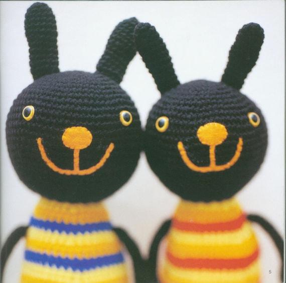zombie horror bunny, PDF crochet pattern, animal, tutorial, ebook ... | 565x570