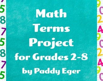 Math Terms Project for Grades 2-8 |