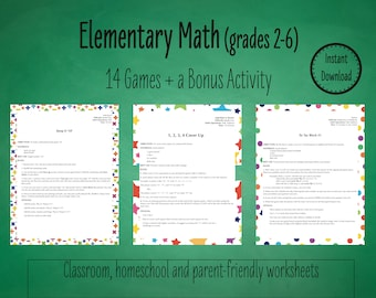 A Teacher's Dozen: 14 Primary Math Games to Practice Basic Math Facts