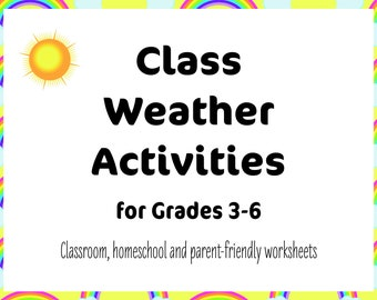 Class Weather Activities for Grades 3-6 | Distance Learning Activity | Classroom Weather Activity