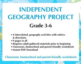 Geography Activities for grades 3-6 | Indie Student Geography Project