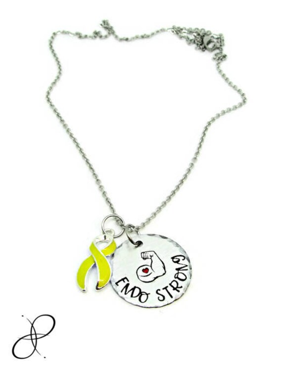 Endo Strong Necklace Hand Stamped Jewelry Endometriosis