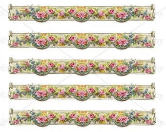 Genial A5 Furniture Decal Shabby Chic French Image Transfer Vintage Floral Trim  Edging Label Recycle Upcycling Art Crafts Scrapbooking Card Making