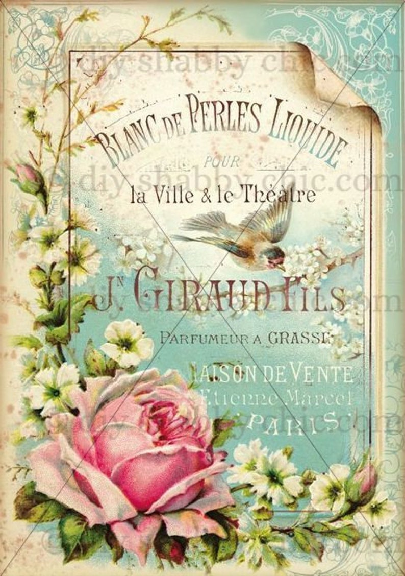 Furniture decals shabby chic french image transfer vintage liquid pearl  sign art diy home Craft label script crafts scrapbooking card making