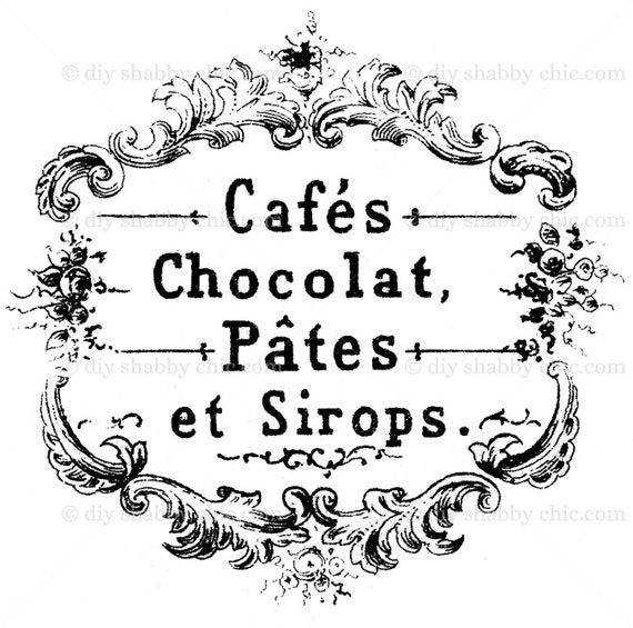 Furniture Glass Ceramic Decal Image Transfer Vintage French Cafe Legumes Grocery