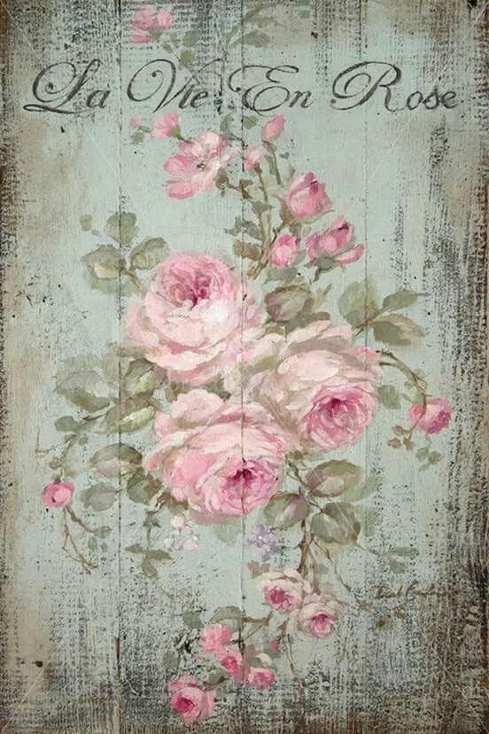 картинки для декупажа в стиле винтаж розы занимающихся