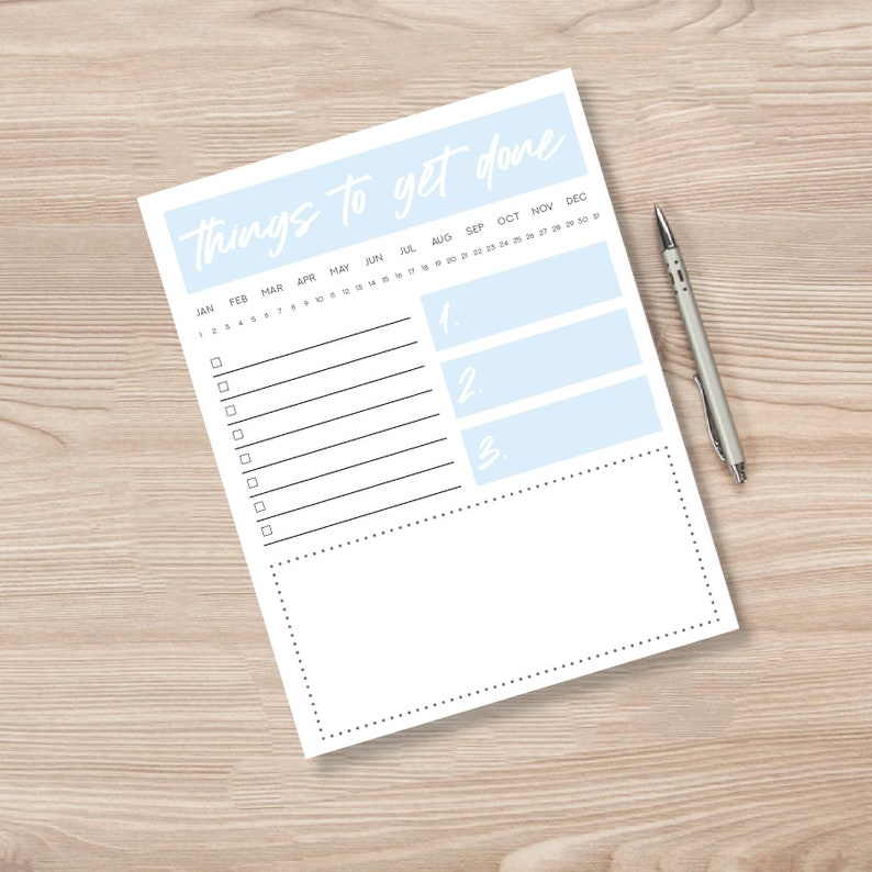 image relating to Downloadable Scheduler named Everyday Planner, Printable Planners, Printable Day-to-day Organizer, Weekly Planner, Weekly Scheduler, Printable Stationery, Downloadable Planner