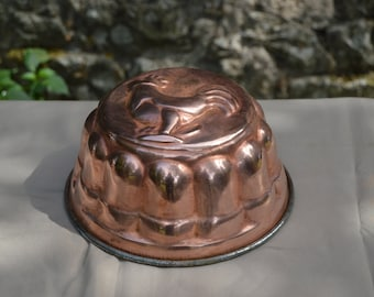 French Copper Mould Mold Cockerel One Piece Jelly Cake Mould Copper Mold Jelly Jello Mold Good Tin Lined Quality Copper Direct From France