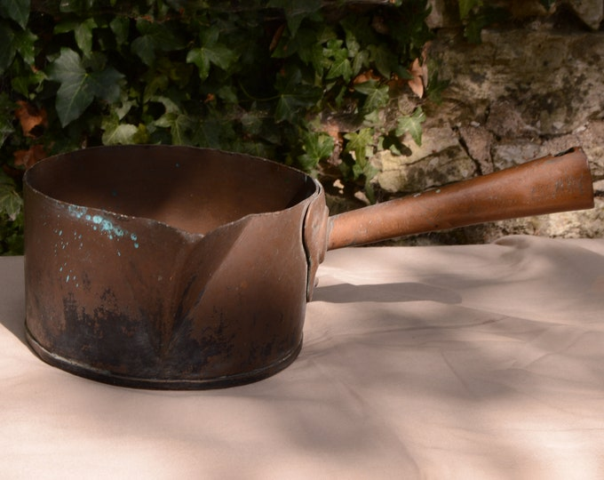 Copper Sugar Pan Unlined Pan Patisserie Pan Chocolate Pot Ideal for Sugar Work Complete Renovation Project Antique Direct from France