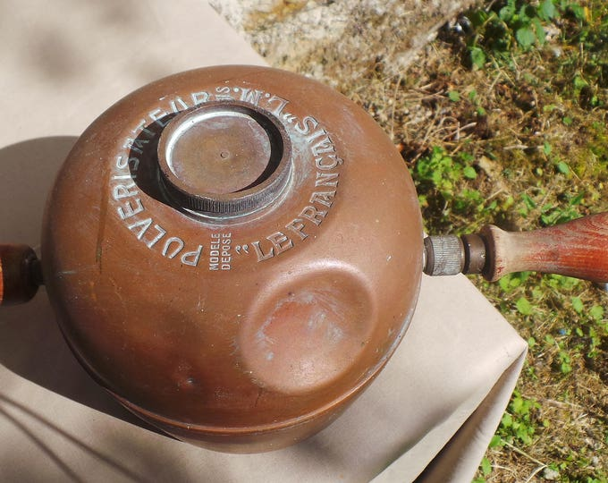Vintage Copper Garden Sprayer with Makers Mark Pulverisateur Le Francais LM Paris Copper Garden Sprayer Quality Copper DIrect from France
