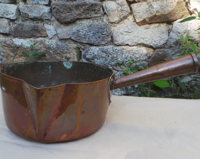 Copper Sugar Pan All Copper Pan Patisserie Pan Chocolate Pan Meringues Sugar Melting Marshmallows Unrestored French Copper