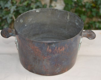 Ancient Charlotte 'Eared Poacher' Copper Pan Poaching Pan Dark Interior Good Handles Bain Maire Copper Pot Quality Copper Direct From France
