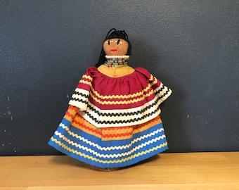 "Vintage Seminole Native American Indian Palmetto Doll 6 3/4""H"