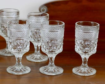 Vintage Wexford Wine Glasses by Anchor Hocking Set of 6