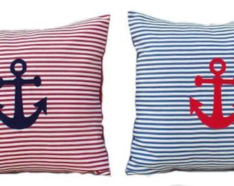 Nautical  Pillow Anchor Pillow Cover Beach House Decor Nautical Decor Boat Decor Sailing Gift Boating Gift Yacht Decor Lake House Decor
