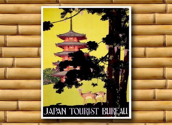 Japan Travel Poster Japanese Wall Art Asian Decor Print