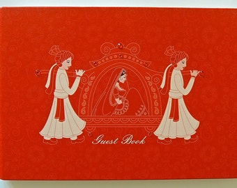 Indian Guest Book featuring the Bride