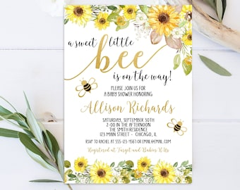 Bumble Bee Baby Shower Invitations Etsy