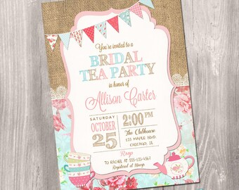 Tea party baby shower invitations printable interior design 3d tea party baby shower invitation girl baby shower invitation etsy rh etsy com high tea baby shower invitations free printable tea party baby shower filmwisefo