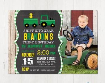 Tractor Invitation, Tractor Birthday Invitation, Tractor Party, Farm Birthday, Tractor invite, Printable Invitation