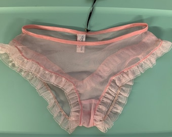 Vintage nylon  flowery panty hose tights burlesque sissy reenactment