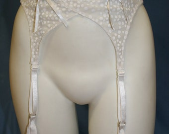 Sheer White Garterbelt - only size L and XL left!