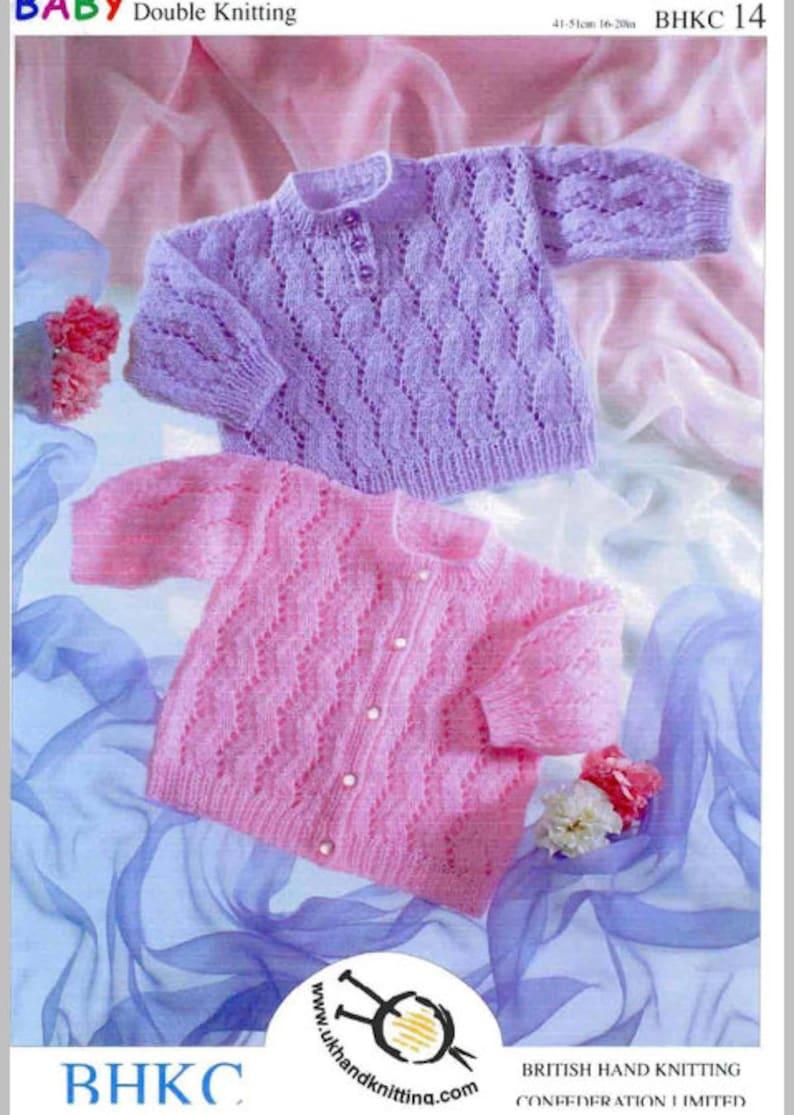 1a6ebbeeac0b Baby Cardigan and Sweater Knitting Pattern PDF instant