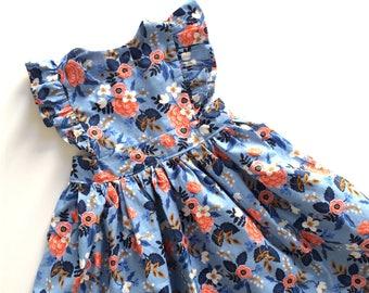 FLORAL PINNY // pinafore dress // toddler girls dress