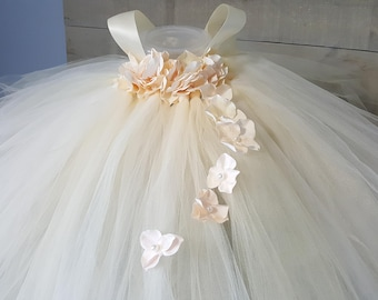 Beige Flower Girl Dresses